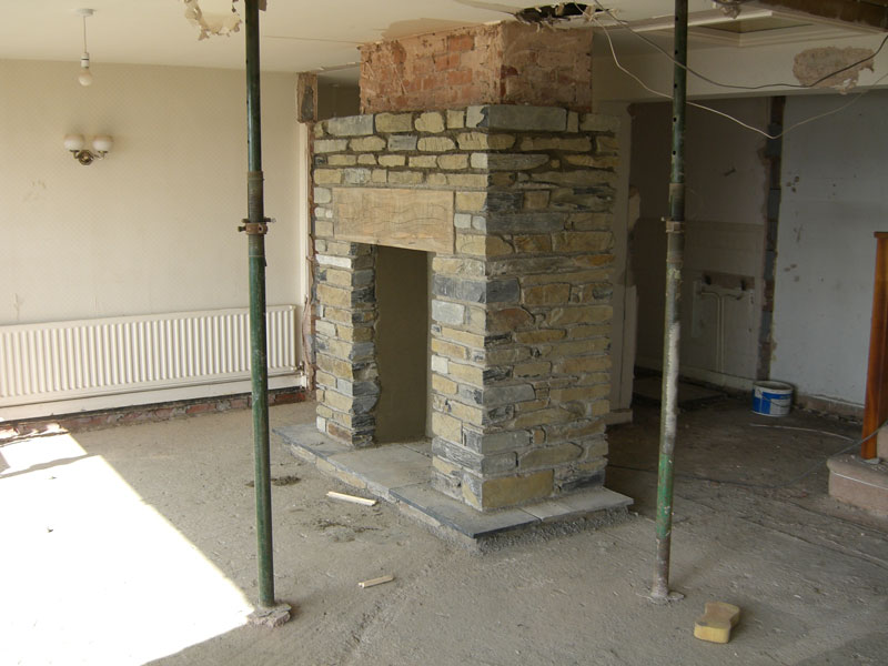 New fireplace being built