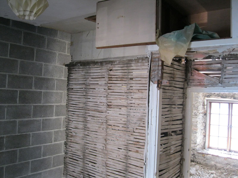 Demolition of old Fish Shop starts by Dyfi Renovations Ltd