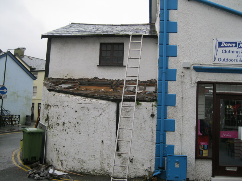 Demolition of old Fish Shop starts