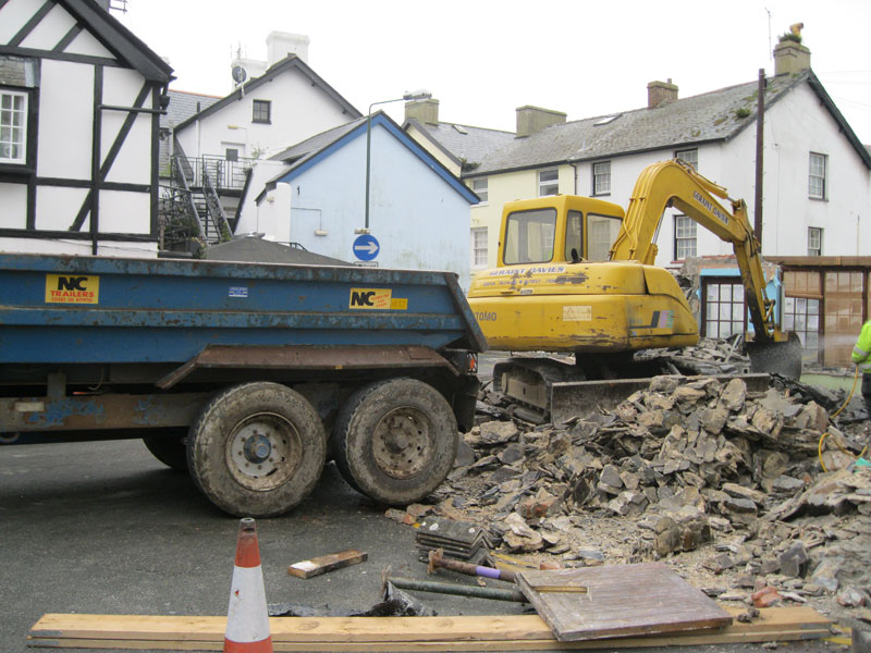 Demolition of old Fish Shop