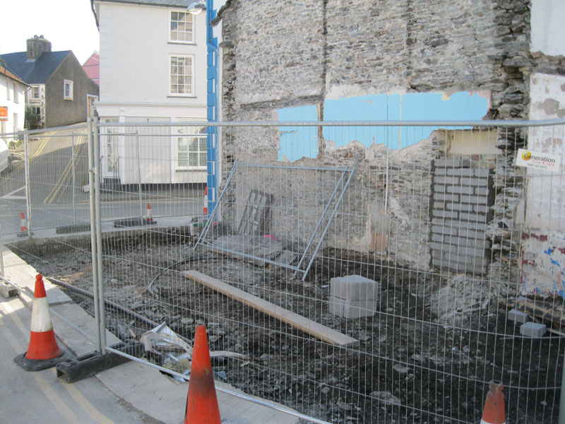 Demolition of old Fish Shop completed