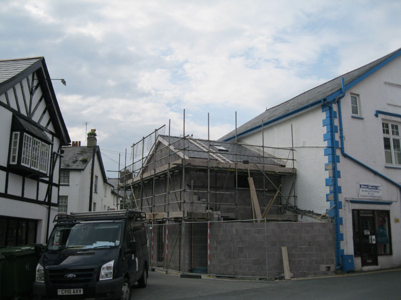 picture of construction of Gallery in Aberdyfi by Dyfi Renovations Ltd