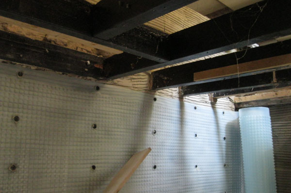 Tanking for waterproof membrane by Dyfi Renovations Ltd