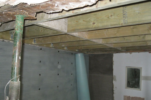 New joists installed by Dyfi Renovations Ltd